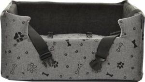Amibelle Black Paws - Autostoel voor honden - 57x46cm - Wasbaar - Handgemaakt - Hondenmand Auto