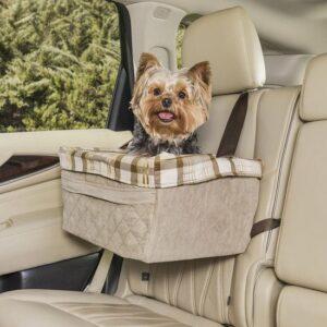 Autostoel voor Honden - gewicht maximaal 11kg - kleur Beige - 51 x 36 x 25 cm